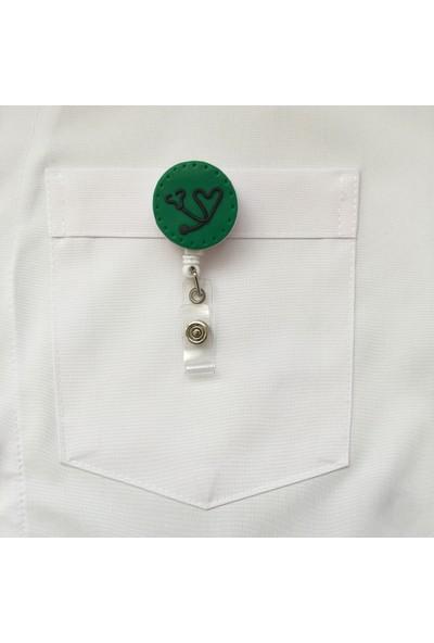 Akça Medikal Yeşil Zeminde Stetoskoplu Yoyo