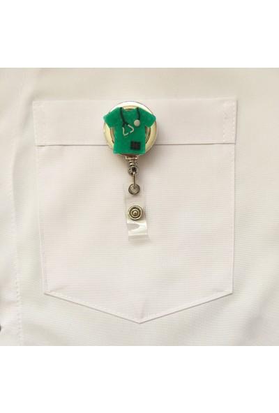 Akça Medikal Yeşil Scrubs Siyah Stetoskoplu Yoyo