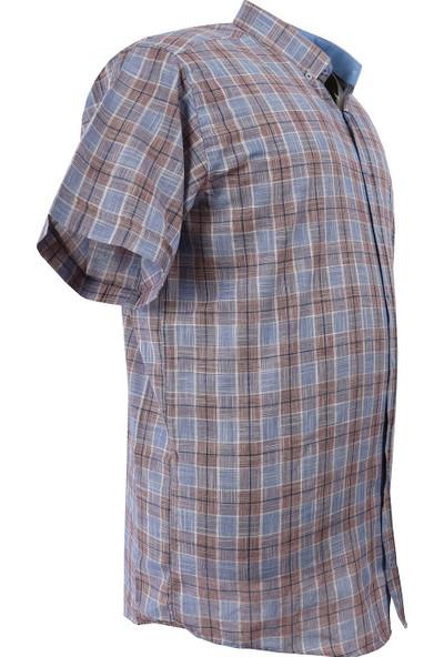 Bettino Erkek Büyük Beden Battal Boy Keten Gömlek Kısa Kol