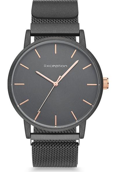 Exception Erkek Kol Saati Siyah Hasır Kordon Moda Şık Trend EX613009