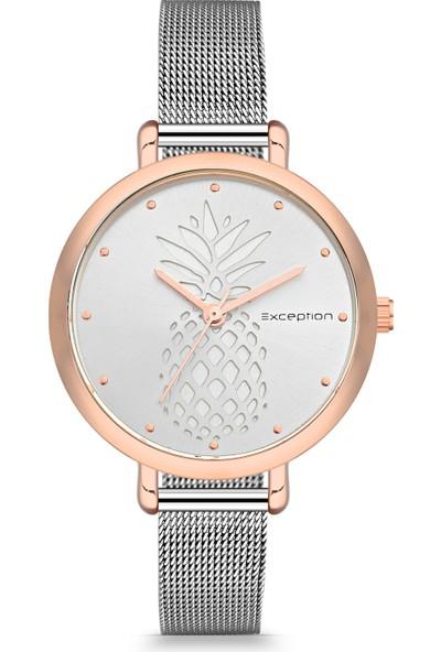 Exception Kadın Kol Saati Gümüş Kadın Moda Şık 625603