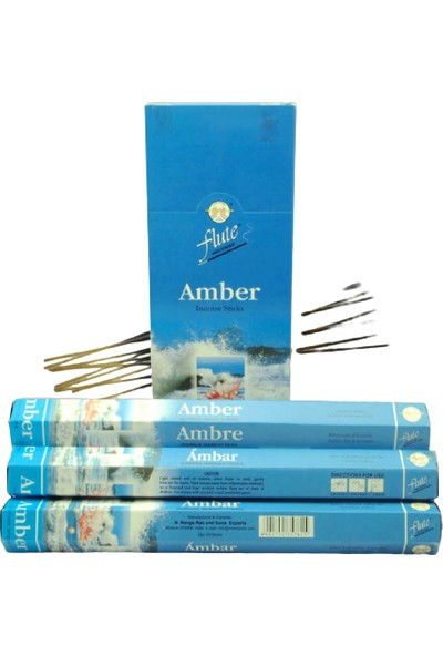 Flute Incense Çubuk Tütsü Amber 20'li
