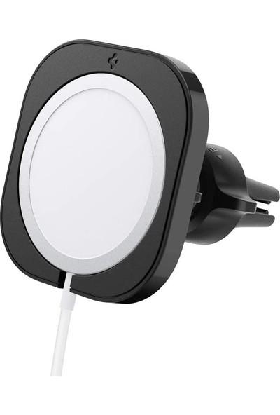 Spigen Mag Fit Araç Tutucu for MagSafe Şarj Aleti iPhone 12 Serisi ile Uyumlu (MagSafe Dahil Değildir) Black - ACP02791