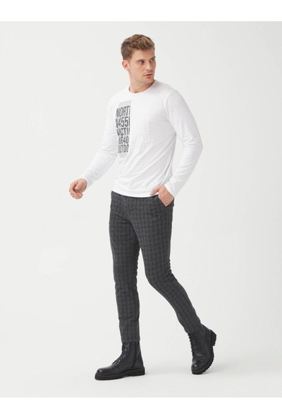 Xint Ekoseli Slim Fit Chino Pantolon