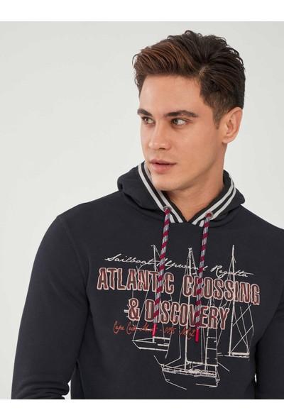 Mcl Kapüşonlu Baskılı Pamuklu Sweatshirt
