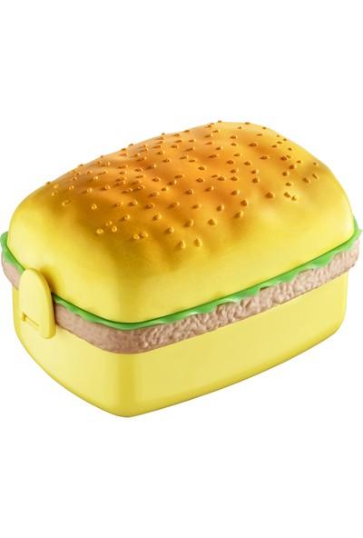 Asya Dikdörtgen Hamburger Görünümlü Beslenme Kutusu Saklama Kabı