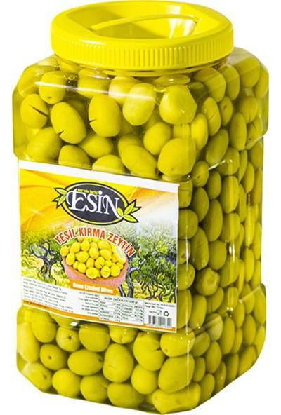 Esin Zeytin Ege'nin Incisi Esin Kahvaltılık Edremit Kırma Yeşil Zeytin 1,5 kg
