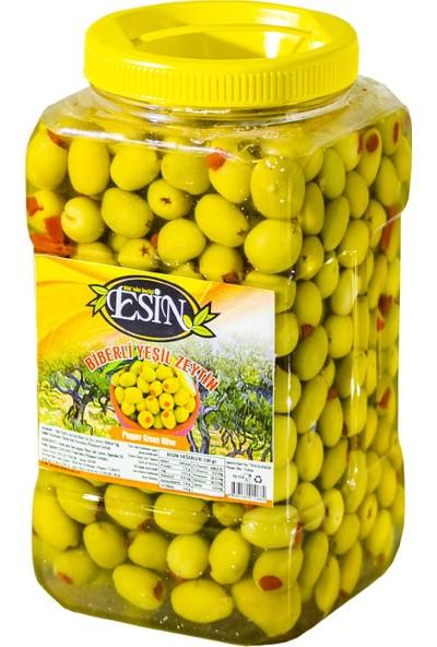 Esin Zeytin Ege'nin Incisi Esin Kahvaltılık Yeşil Biberli Zeytin 1,5 kg