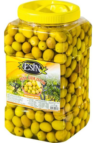 Esin Zeytin Ege'nin Incisi Esin Kahvaltılık Yeşil Çizik Zeytin 1,5 kg