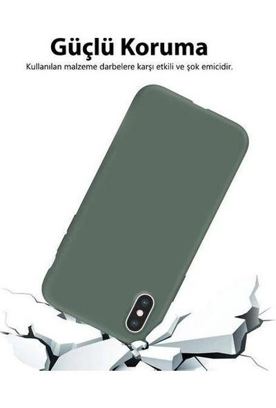 Bilişim Aksesuar Samsung Galaxy M21 Lansman Kılıf Haki Yeşil
