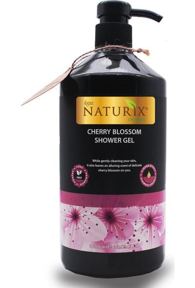 Naturix Organik Sütlü Duş Jeli 1000 ml + Japon Kirazı Duş Jeli 1000 ml 2'li Aile Duş Jeli Seti