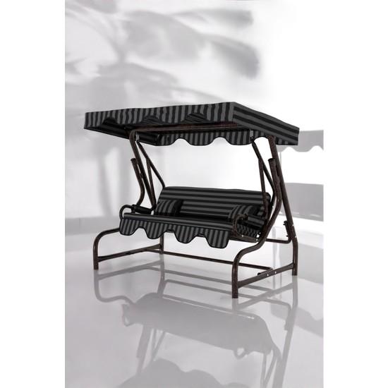İskele Zebra 3 Kişilik Bahçe Salıncağı Balkon Teras Salıncak Bakır