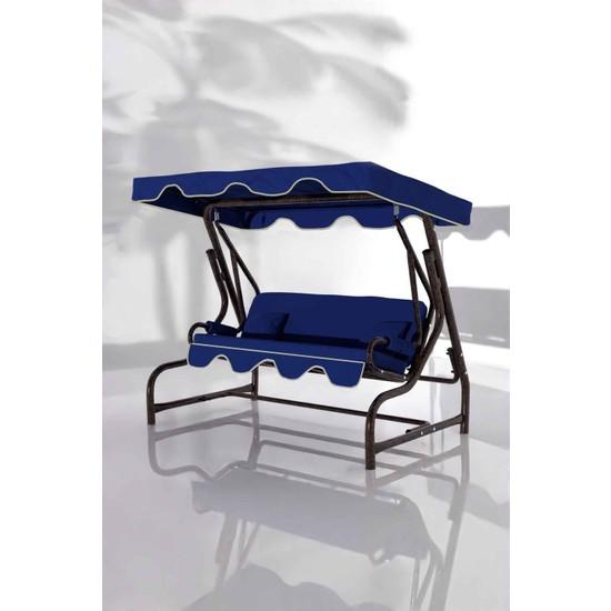 İskele Maviş 3 Kişilik Bahçe Salıncağı Balkon Teras Salıncak Bakır