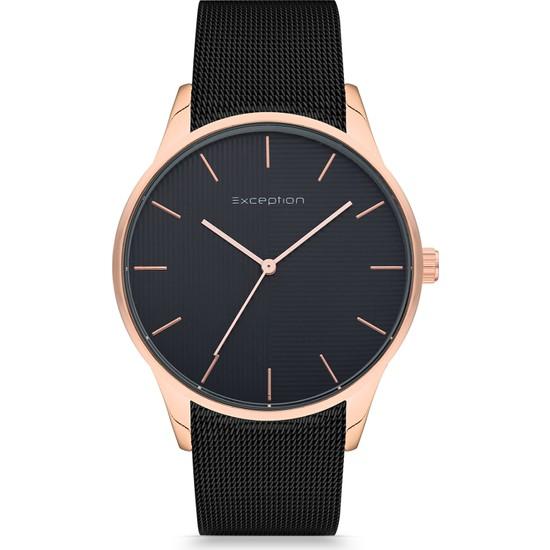 Exception Erkek Kol Saati Siyah Hasır Kordon Moda Şık EX605701