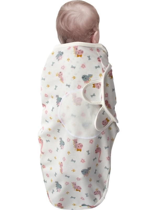 Sevi Bebe Interlok Bebe Kundak Dinazor-Çok Renkli