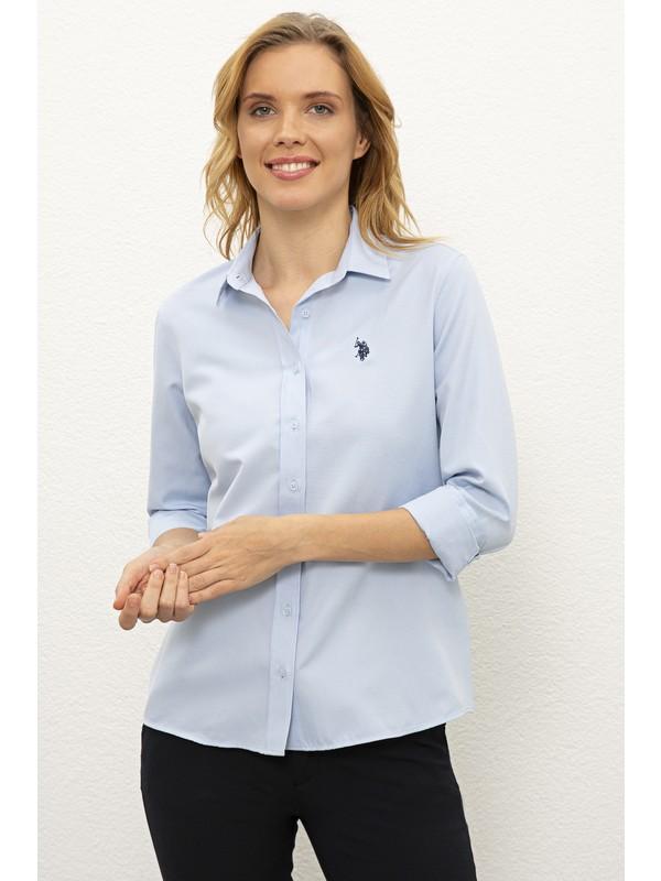 U.S. Polo Assn. Mavı Gömlek Uzunkol Basic 50238155-VR003