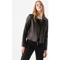 Mavi Kadın Suni Deri Siyah Biker Ceket 110460-900