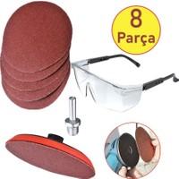 Zubizubi Ugr Cırt Zımpara Seti + Matkap Aparatı + Gözlük 115 mm (8 Parça)