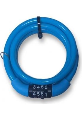 Robesbon Şifreli Spiral Bisiklet Kilidi 8X100 cm
