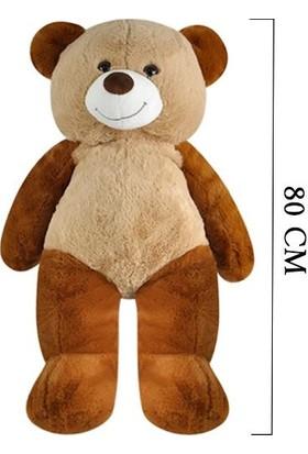 Selay Toys Peluş Salaş Ayı Oyuncak 80 cm Kahverengi 1100