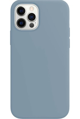 Buff Apple iPhone 12 Pro Max Rubber S Kilif Ice Blue