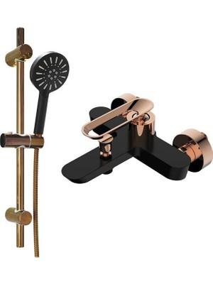 Bien Hermes Hareketli Üst Takım 3f ve Hermes Banyo Bataryası Siyah Rose Gold