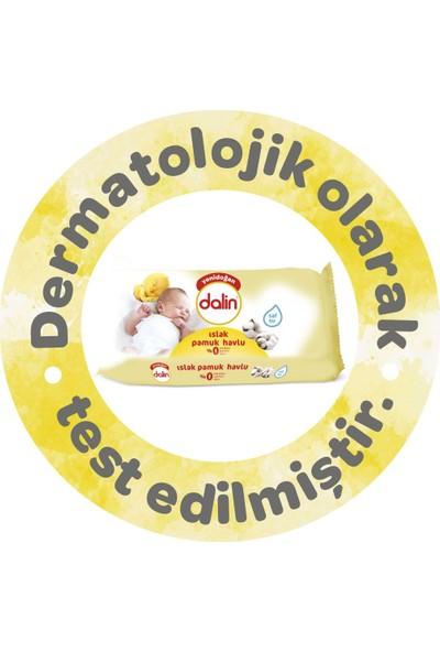 Dalin Yenidoğan Islak Pamuk Havlu 3'lü Paket 120 Yaprak