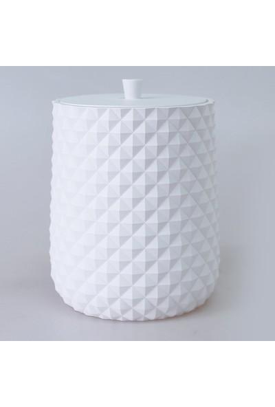 Piramit Banyo Seti Beyaz