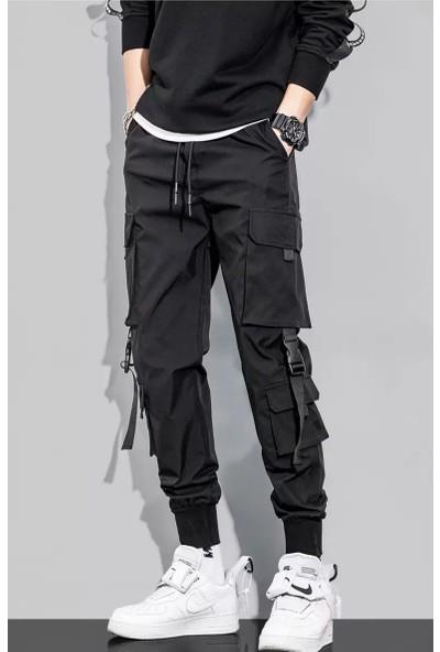 Generic Pantolon Çok Cepli Rahat Pantolon Erkek Pantolon Eğilim (Yurt Dışından)