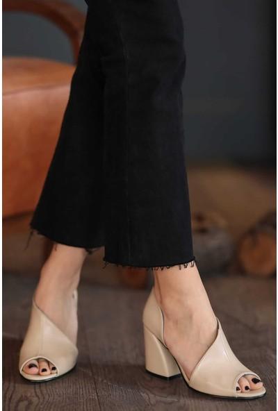 Mio Gusto Eva Ten Rengi Topuklu Ayakkabı