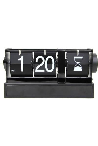 Ezolan Saat Masa Üstü Flip Masa Saati Kum Saat Modeli Hediyelik