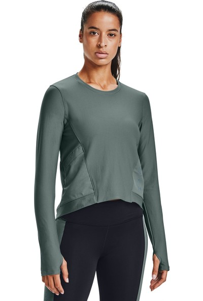 Under Armour - Uzun Kollu T-Shirt - Ua Run Anywhere Cropped Ls