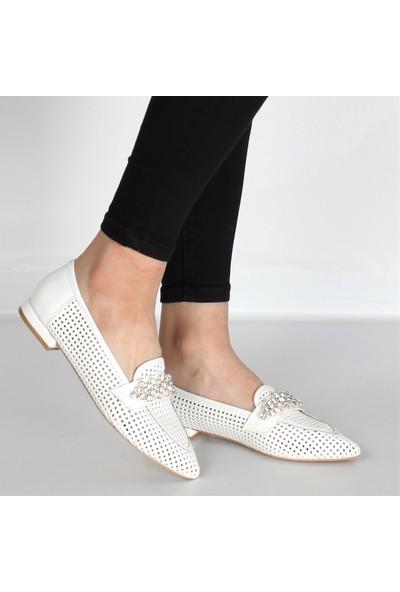 Celal Gültekin 21702 Kadın Ayakkabı Beyaz