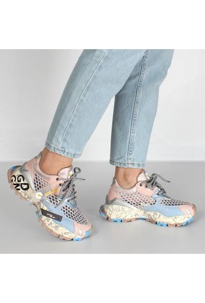 Celal Gültekin 21606 Kadın Ayakkabı Pudra/mavi