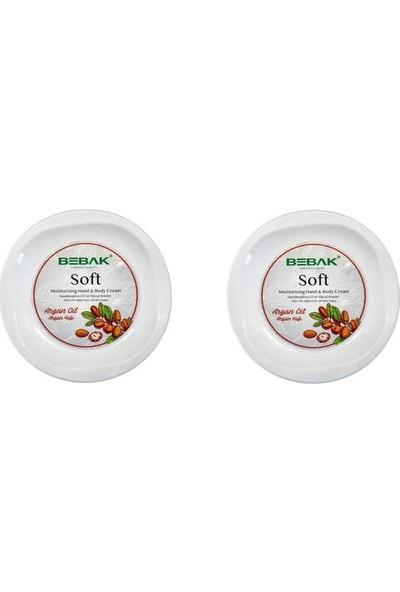 Bebak Soft Argan Yağlı Nemlendirici Bakım Kremi 300 ml x 2 Adet