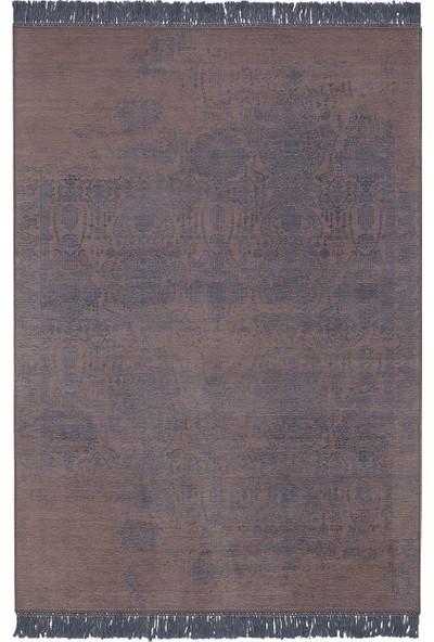 Enza Home Mabel Modern Özel Tasarım Dokuma Halı - Lacivert (190x290 cm)