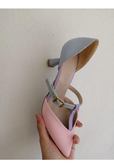 Hera Kadın Renkli Topuklu Günlük Stiletto