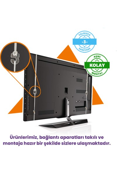 Evçelik 2.5mm Elmas Panel Telefunken 24TH4020 Tv Ekran Koruyucu