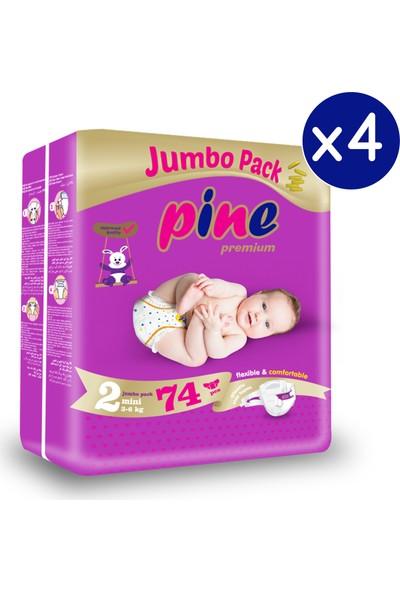Pine Mini (3-6 Kg) 296 Adet Jumbo Dev Bebek Bezi