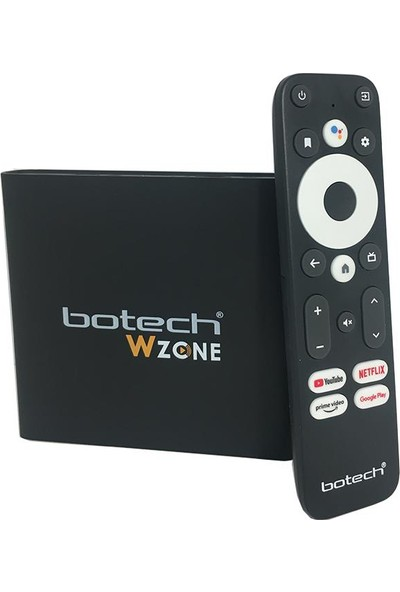 Botech Wzone 4K Ultra UHD Android 10 Tv Box + Netflix 100TL Kartı