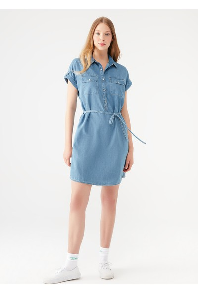 Mavi Kadın Barbara Lux Touch Lyocell Jean Elbise 130548-26176