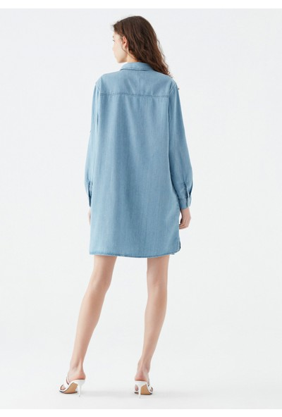Mavi Kadın Lara Gold Lyocell Jean Elbise 130858-31259