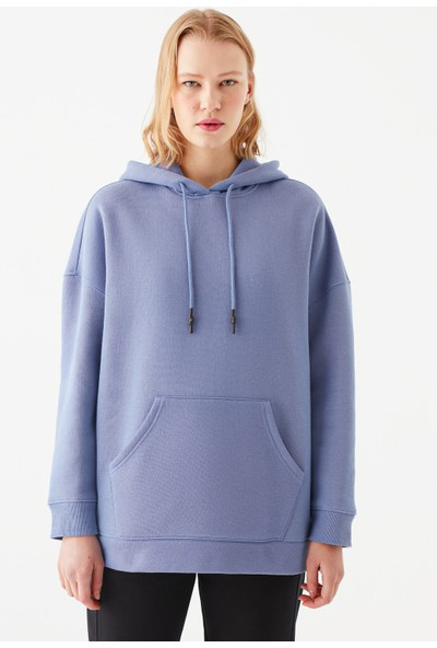 Mavi Kadın Kapüşonlu Mor Sweatshirt 168327-32942