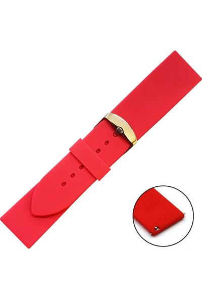 Trendburada Honor Magic Watch 2 46MM Gül Kurusu Renk Akıllı Pimli Spor Silikon Saat Kordonu