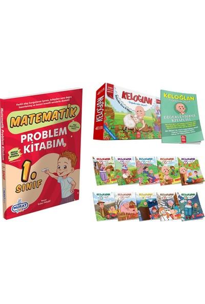 Model Çocuk Yayınları Keloğlan Hikaye Seti + 1.sınıf Problem Kitabım