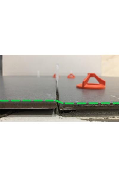 HS Hskalıp Seramik Seviye Derz Ayırıcı Klips Twister Vidalı Klips 2mm (200 Adet)+Somun (100 Adet)