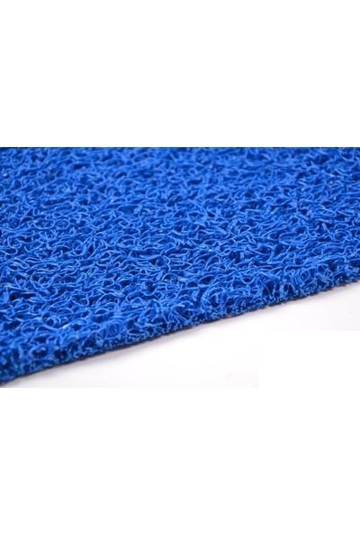 Colourmat Kaydırmaz Kaymaz Yolluk Karmaşık Halı Kıvırcık Paspas 1,2 mt. (Mavi)