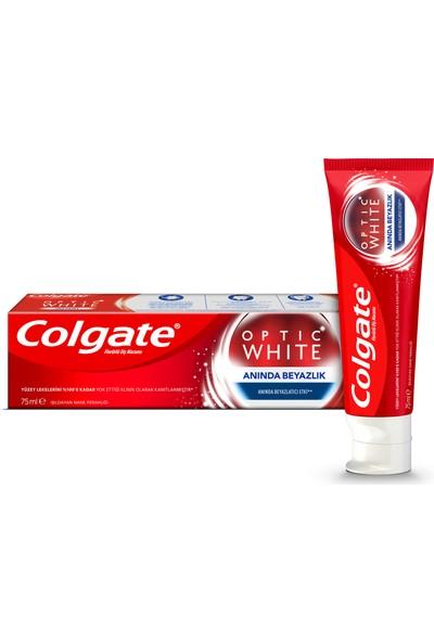 Colgate Optic White Anında Beyazlık Diş Macunu 75 ml + Optic White Aktif Kömür Diş Macunu 50 ml