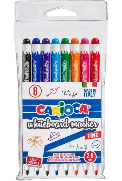 Carioca 42920 Pvc Beyaz Tahta Kalemi 2.8 mm 8'li