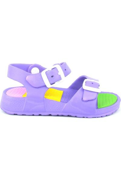 Sonimix Mor Bantlı Kız Çocuk Sandalet